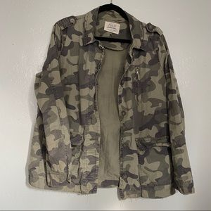 Ashley Downtown Collection Camo Print Army Jacket